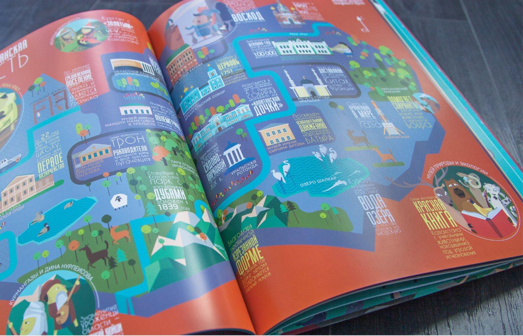 "Разворот ""Книги-путешествие. Казахстан"""