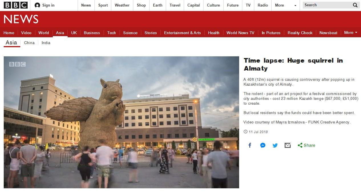 белка на BBC
