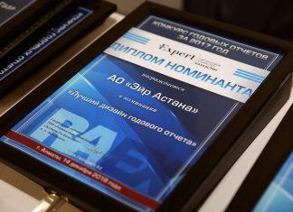 Лучшая интерактивная версия годового отчета: Эйр Астана