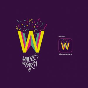 Top logo design trends 2019: дизайн логотипа для Where's the party